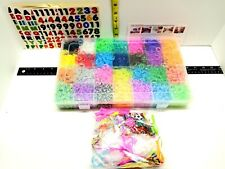 11900+ Colorful Rubber Bands Refill Loom Kit Organizer NEW