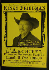 Kinky Friedman Music Poster - Paris, France - L'Archipel