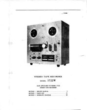 Akai 1722w Tape Deck Owners Instruction Manual