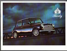 Rover Mini 30 Thirty Limited Edition 1989 UK Market Sales Brochure