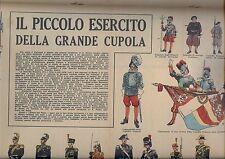 corriere dei piccoli anni 50  Soldatini di carta esercito del vaticano   RARI !!