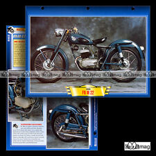 #136.10 Fiche Moto FN FABRIQUE NATIONALE 175 M22 1953-61 Classic Motorcycle Card