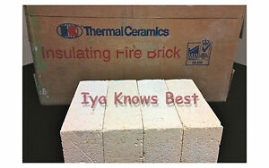 "K-20 Insulating Firebrick 9x4.5x 1.75"" Straight Fire Brick INDIVIDUAL BRICKS"