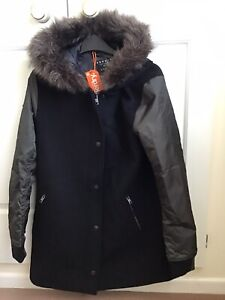 Superdry Mina Wool Coat, Size Small, BNWT