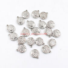 Lot 15pcs Stainless steel religious Tree Charms pendant Jewelry accessories DIY