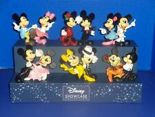 Disney Enesco Showcase Dancing Mickey and Minnie Mouse Figurines Full Set NIB's