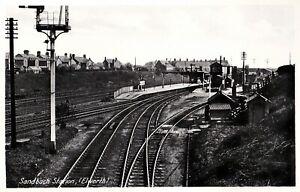 CIRCA 1930s POSTCARD: SANDBACH RAILWAY STATION, ELWORTH, SANDBACH, CHESHIRE