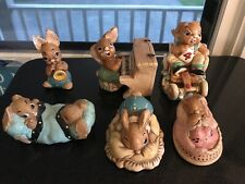 Lot 7 Pendelfin Figurines Hand Painted England Poppet Dodger Humphrey Thumper
