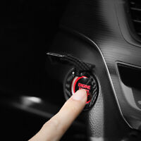 Carbon Fiber Car Engine Start Stop Push Button Switch Cover Trim Accessories df