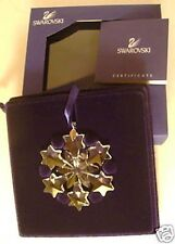 2004 Swarovski~Little SNOWFLAKE Mini Christmas ORNAMENT ~ Excellent - box & COA