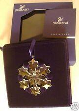 2004 Swarovski~Little SNOWFLAKE Mini Christmas ORNAMENT ~ Excellent - box & COA