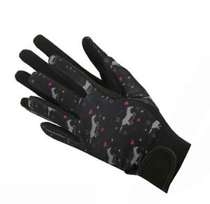 AFE Equestrian Horse Riding Gloves LADIES Amara Leather Cotton Dublin Shires