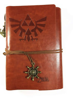 Legend of Zelda Notebook Leather Cover Travel Journal Sketching Diary Vintage