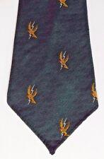 Colourtise vintage crested tie Terylene 1950s eagle? lightning bolt badge