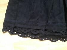 JUPE 15 16 ans XS PUNK GOTH ROCK TBE H&M HM Vintage retro skirt broderie anglais