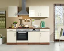Küchenzeile Nevada Küchenblock Mit E Geräten 220 Cm Creme