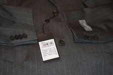 $2195 Ermenegildo Zegna NWT Gritti Gray Striped Wool Suit 46L 40W