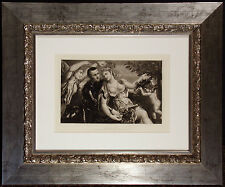"Antique Engraving Photogravure ""Mars and Venus"" 1886 Masterpieces of Italian Art"