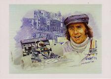 Jackie Stewart Tyrrell Ford 003 1971 Monaco Gp tarjeta de saludos Craig Warwick