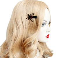 New 1 Pair Fashion Wings Spider Hairpins Halloween Hair Clips Girls Costume_gu