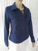 Women's Charter Club Small  Slate Blue Cotton Blend Button Up Blazer/Jacket