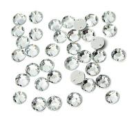Glitzersteine zum Aufnähen auf Textilien Acryl-Strass-Steine crystal vier Größen