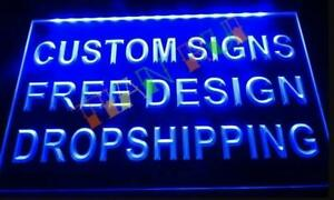 Custom Personsed Own Design Led Neon Bar Sign Home Light Up Pub Shop Logo