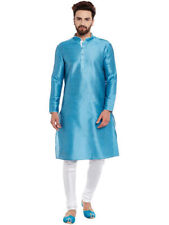 Indian Blend Cotton Men Kurta Shirt T-Shirt Multi Tunic Top Solid Color All Size