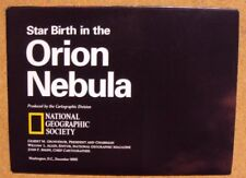 National Geographic December 1995 Map Poster Star Birth in the Orion Nebula