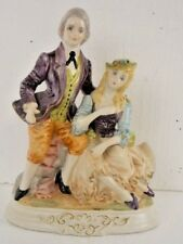 Porcelain Victorian Lovers Couple Made in Italy EUC Unique & Desirable