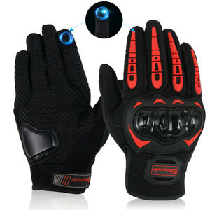Touch Screen Motorcycle Gloves Motocross Hard Knuckle Full Finger Bicycle Glove