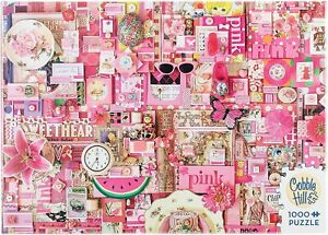 Cobble Hill Pink Jigsaw Puzzle (1000 Piece)