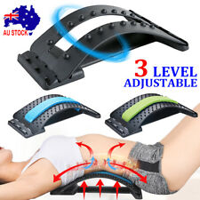 Magic Back Massager Stretcher Fitness Lumbar Waist Spine Pain Relief Support AU