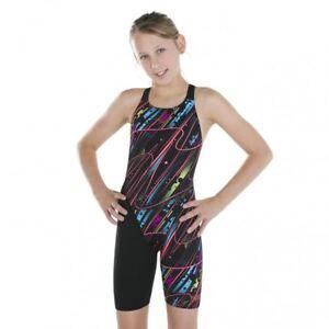 Speedo-Kneesuits-Fastskin Junior Endurance+ Openback Kneeskin-Black-