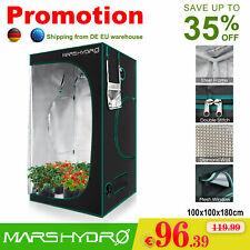 100×100×180cm Indoor Growbox Zelt Reflektierender silberner Mylar Hydroponics