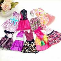 "10Pcs Lots Charm Handmade Dresses Clothes For 11"" Doll Style Random Girls Gift"