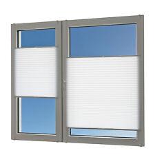 Plissee für Fenster und Türen weiß-crash 80x140 ohne Bohren Rollo Jalousie