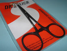Dr Slick 5 inch Black Clamp Straight Hemostats Forceps Pliers Fly Fishing C5B