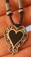 Vintage Filigree Heart Pendant Necklace