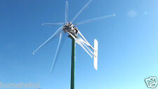 "WIND TURBINE 2000W COMMANDER DUAL 2.5"" 7 BLADE CLEAR 48 VDC  2 WIRE 74""  8.4 kWh"