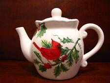 Beautiful Large Cardinal Tea Pot. Brand New. Vibrant Colors. Eye-catching.