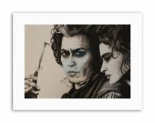 SWEENY TODD JOHNNY DEPP BY W.MAGUIRE Canvas art Prints