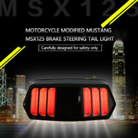 LED Rücklicht Bremslicht schwarz E-Geprüft für Chopper Custom Bike Motorrad