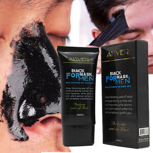 Men Purifying Blackhead Charcoal Face Mask Peel-Off Cleansing Black Remover .