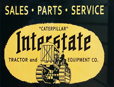 "TIN SIGN ""Interstate Tractors""   Holiday  Mancave Wall Decor"