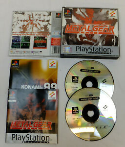 METAL GEAR SOLID PLATINUM DOUBLE CASED GAME PLAYSTATION 1 PS1 PS2 PS3 COMPLETE