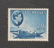 Seychelles #135 (SG #140) VF MINT - 1941 20c Fishing Canoe & KGVI
