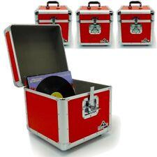 "Gorilla LP100 12"" LP Vinyl Record Box DJ Storage Carry Case Holds 100 Red x4"