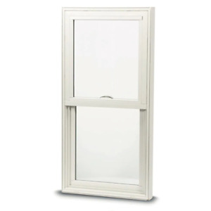 Single-Hung Window 35.75 in. x 37.25 in. Venting Low-E Glass Composite White