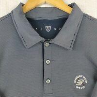 NIKE GOLF x CAPE COD Size 2XL Mens Blue Striped Polo Shirt Dri-Fit Stretchy